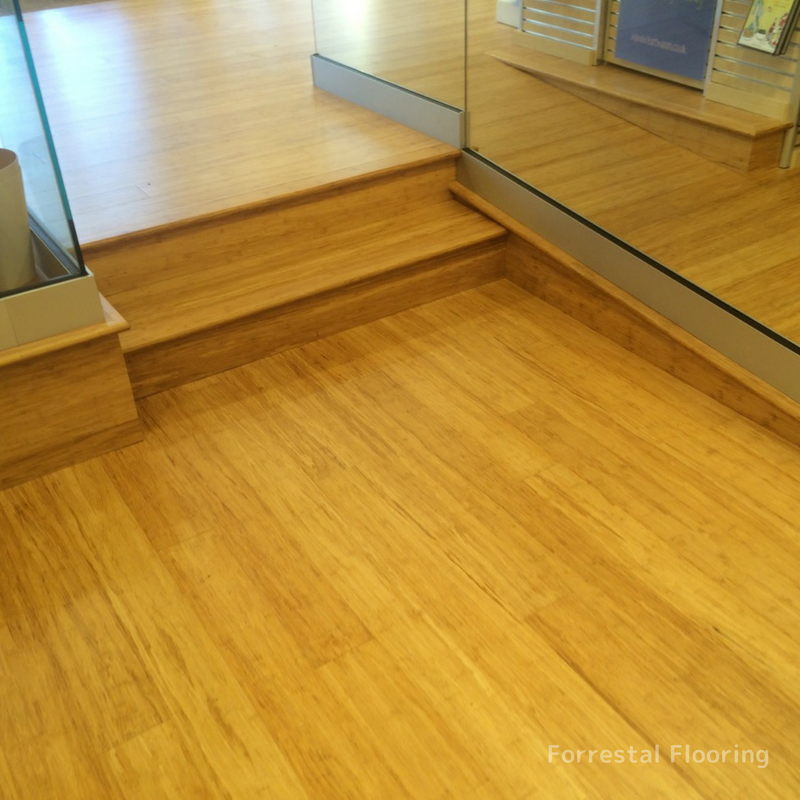 Wooden floor in a shop